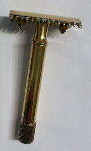 Vintage Double Comb Double Edge Safety Razor Gold Tone Pat. Nov. 15, O4