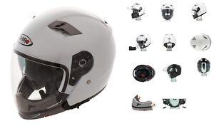 Casque Helmet moto / Scooter SHIRO SH414 Transformable BLANC
