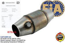 FIA approuvé 127mm convertisseur catalytique 100cpsi Group A Race cars 76mm