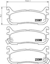 Textar Bremsbelagsatz HA für Mazda 323 F (BA) MX-5 (NA/NB) Akebono - 2338704