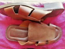 TUMBERLAND SHOES RUSTY BROWN LEATHER FLAT SANDALS!SIZE 9 M /40!MADE IN ITALY