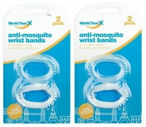 4xTravel Anti Mosquito Insect Spiral Waterproof Wrist Bands 100+Hours Protection