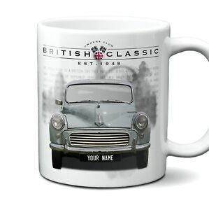 Morris Minor 1000 Mug Personalised Number Plate Ceramic 11oz Gift Box
