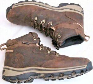 Timberland 66961 White Ledge Waterproof  Leather 5 Eye Ankle Boot Boy's U.S. 7
