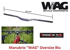 0384 Manubrio Curvo Over-Size WAG Alluminio Blu x Bici 20-24-26 MTB Mountain Bik