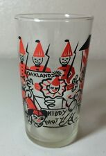 Vintage Painted Glass Oakland Kiddie Party Merry Christmas 1968 Tumbler