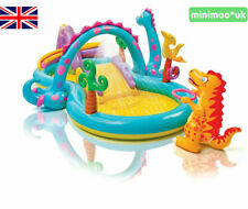 INTEX Dinoland Play Centre Inflatable Dinosaur Paddling Pool with Water Slide