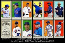 NEW!! 2016 T206 Style Chicago Cubs Team Set 2016 World Champions 21 cards