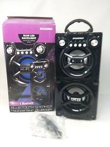 Sylvania Blue LED Backlight Bluetooth Speaker SP328-B-Bla K