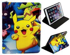 For Apple iPad 2 3 4Anime New Happy Pokemon Pikachu Anime Pokeball  Case Cover