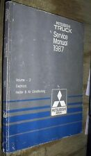 1987 MITSUBISHI TRUCK FACTORY ELECTRICAL WIRING DIAGRAMS & TROUBLESHOOTING