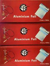 Caesar Shisha Bowl Aluminium Foil Roll 20m With Strip Cropping