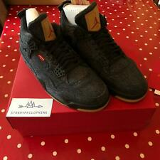 Nike Air Jordan 4 Retro Levi's Black - UK 10 US 11 - 100% Authentic