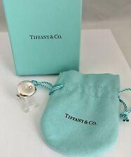 TIFFANY & CO. 925 Sterling Silver Ring ELSA PERETTI Open Band Diamond