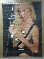 BEAUTIFUL BODYBUILDER VINTAGE POSTER BAR GARAGE 1985 HOT GIRL CNG645