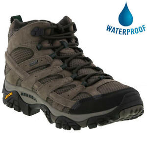Merrell Moab 2 Mid GTX Mens Taupe Leather Waterproof Walking Boots Size 7-13