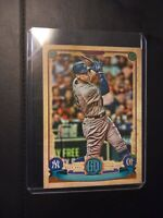 AARON JUDGE 2019 TOPPS GYPSY QUEEN #300 MISSING NAMEPLATE VARIATION SP AX1411