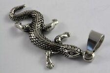 Gecko Salamander Pendant Silver Pendant 925 Silver /508
