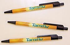 Drug Rep Pens  3 ( TAMIFLU )  Plastic / Roche Pharmaceuticals / Flu Bug Drug !