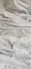 White Paisley Floral Broderie Anglaise Fabric 58'' PRICE PER METER