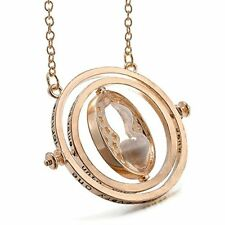 Gold Plated Harry Potter Time Turner Hermione Hourglass Dumbledore Pendant Neckl