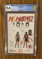 Ms. Marvel #1 CGC - 9.4 - McKelvie Variant  Kamala Khan 1st Print 🔥 🔑 🔥