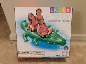 Brand new in the box Intex Ride-On Giant Gator