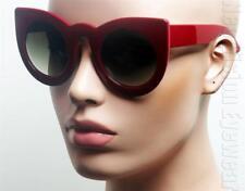 Oversized Extra Large Cat Eye Sunglasses Pinup Vintage Style Smoke Red K583