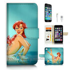 ( For iPhone 7 Plus ) Wallet Case Cover P3549 Little Mermaid