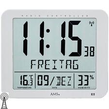 Ams 5884 Horloge murale de table Radio Numérique Date Thermomètre Réveil
