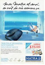 Publicité Advertising 058  1994   Matra  téléphone sans fil Nautila