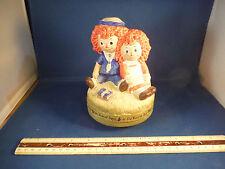 "RARE Vintage Raggedy Ann & Andy ""School Days"" Music Box"