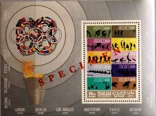 SHARJAH 1968 Block 43 PROBE PROOF Olympics Olympia Mexico stamp on stamp MNH