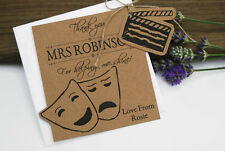 Drama Teacher Thank you Card Tag With Envelope Drama gift tag