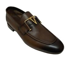 Sigotto Uomo Men's Slip On Brown Leather Dress Shoes 3445