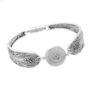 1 Magnet Armband Armreif Druckknopf Klick Gravur Wechselschmuck 21cm