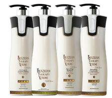 BTX BRAZILIAN KERATIN CURE GOLD GLAMOUR HAIR SMOOTHING TREATMENT 1000ML 4 PC KIT