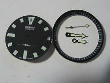 BLACK Dial Hands Minute Marker Ring SET NEW made for SEIKO DIVER 7002  Auto