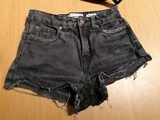 New Look Black Denim MOM Shorts - Size 6