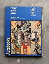 HONDA CIVIC - Owners Workshop Service Manual Book for Repair Restore 1973-1976