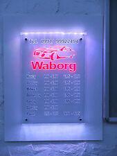 Öffnungszeiten Firmenschild LED Leuchtschild mit Firmenlogo Werbeschild