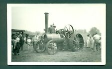 More details for steam traction engine no 13005 at woburn rally aug 1957,plain back card.