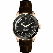 Gents Rotary Ocean Avenger Rose gold Watch on Leather Strap GS02696/04  RRP.£165