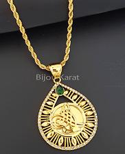 Osmanli Tugra Kette 22 Karat Gold GP Altin Kaplama Cumhuriyet altini Kolye Henna