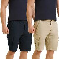 Mens Threadbare Summer Casual Designer Cotton Basic Chino Cargo Fit Shorts