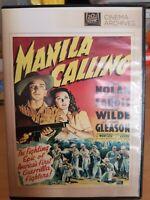 Manila Calling (DVD, 2014) Lloyd Nolan, James Gleason -Mint Disc - Free Shipping