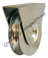 100mm Puerta Rueda Polea Rueda en soporte, guía de la rueda de acero de' U' 20mm Groove