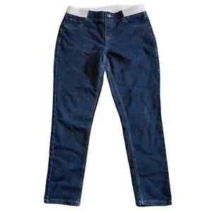 JUSTICE 14 PLUS Mid Rise Dark Rinse Jeggings Jeans