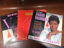 Sarah Vaughan 3 Vinyl LP Record Lot