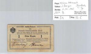 Deutsch-Ostafrikanische Africa German 1 Rupee 1.11.1915 N°84344 Pick 9a